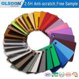 Olsoon 0.8-6mm incassables Anti-Rayent la feuille acrylique de miroir de la couleur PMMA de feuille de miroir de mur