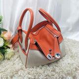 Sac d'épaule neuf d'emballage de taille des sacs à main 2 de dames de cuir de qualité de modèle avec la couleur Emg5196 de contraste