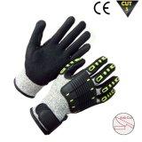 Los guantes antis de la vibración con TPR cortaron el guante resistente del trabajo de Mechanix