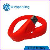 Silikonkundenspezifischer GummiWristband USB-grelle Platte mit Firmenzeichen Debossed oder Abdruck
