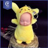 Pikachu Long jaune Sleeping Baby Doll accrocher la chaîne de clé