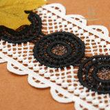 広州のレースの工場卸売の未加工レースのトリムのボーダー多彩な花嫁の布材料