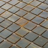 Mosaïque à extrémité élevé de tuile en verre souillé