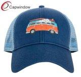 Tampa de malha camionista OEM com logotipos personalizados