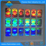 주문 접착제에 의하여 반영되는 무지개 빛깔 Laser 홀로그램 스티커