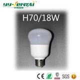 пластмасса 45W E27 160-265V + алюминиевая электрическая лампочка СИД с