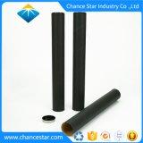 Couvercle métallique personnalisé tube de carton de papier noir mat