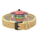 Reloj de encargo de la pulsera de las señoras de la insignia del precio del regalo barato de Chritmas