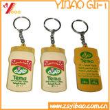 Trousseau de clés fait sur commande de PVC pour le cadeau promotionnel