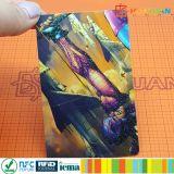 CARTE sèche de cadeau d'IDENTIFICATION RF estampée par coutume neuve de gestion d'entreprise de métier de HUAYUAN