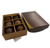 Cuadro de chocolate de postre/marrón Caja de regalo papel CMYK