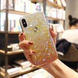 O gradiente de galhardetes luxo Textura Gems Caso Telefone para iPhone 6/7/8/X