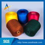 Hilados de polyester 100% blancos sin procesar del color para el uso de costura