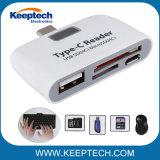 SD/TFのカード読取り装置が付いているCのカード読取り装置USB3.1 OTGのハブのアダプターをタイプしなさい