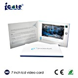 Nueva tarjeta de felicitación del vídeo de la llegada 2017 folleto grande del vídeo de la talla del LCD de 7 pulgadas
