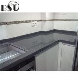 Partie supérieure du comptoir stratifiée de cuisine, partie supérieure du comptoir conçue de pierre de quartz