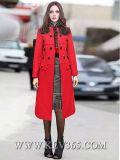 Capa al aire libre de la chaqueta de las lanas del invierno de las mujeres de la manera