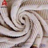 Câble rouge et blanc de Patchwork tricot de jeter de l'acrylique couverture