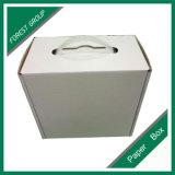 ハンドルが付いているロゴの印刷によって波形を付けられる包装ボックス