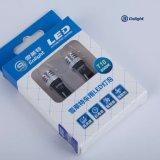 Lampadina interna bianca di Cnlight LED T10 W6w 12V 4300K 6000K Ce/RoHS per gli indicatori luminosi di parcheggio del cruscotto della targa di immatricolazione del circuito di collegamento di cortesia della plafoniera