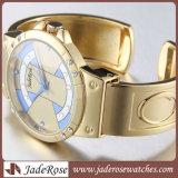Neuer Entwurfs-Quarz-Überwachen Luxuxarmbanduhr-Frauen Rhinestone-, denarmband die analogen Form-Damen überwacht
