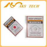 Transport-Neigung-Aufkleber-Kennsatz-Gebrauch für das Warnen im Versand