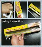 Le PE collant de catégorie comestible de ménage s'attachent film avec le coupeur de glissière