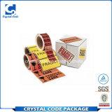 Le papier adhésif de qualité étiquette des collants