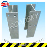 Datenbahn-Aufbau-Sicherheitsschranke-Zink beschichteter Schutz-Geländer-Pfosten