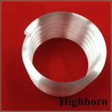 Tubo elicoidale a spirale opaco bianco latteo personalizzato del tubo del quarzo