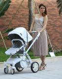 En ligne d'Usine Nouvelle arrivée poussette de bébé le plus cher d'auvent en cuir 2 en 1