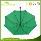 Automobil-geöffnetes Rohseide-Gewebe-gerader Regenschirm für im Freien verwendet