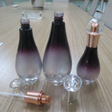 Botella cosmética de cristal oval delicada de 120ml 100ml 40ml