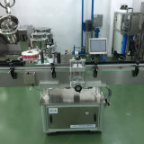 Vertical Automática completa el etiquetado de botellas redondas