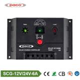 contrôleur solaire de charge de moteur de C.C du balai Scg0606 de 12V/24V PWM