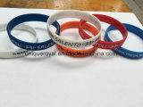 Wristbands del silicone di Debossed di turbinio di disegno di Facatory