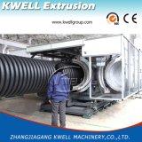 Estirador del tubo del drenaje del agua de lluvia, máquina acanalada de la producción del tubo de la pared doble