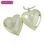 Nice Fashion Esmalte Ouro Coração Colar Pendente para Caixa de jóias