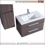 Gabinetes pequenos de madeira europeus do dissipador do banheiro