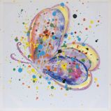 Papillon coloré 100 % de la peinture sur toile peinte à la main