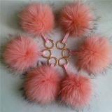 Décorations faites sur commande POM Poms de chapeau/Noël de Pompom de fourrure de mode