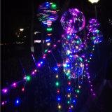 Natale di vendita caldo della fabbrica che fa pubblicità all'aerostato del LED ultra trasparente nessuna sfera luminosa dell'onda della grinza