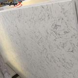 석영 석판을 보는 Calacatta Carrara 백색 대리석은 석영 돌을 설계했다
