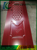 HDFのドアの皮によって薄板にされる光沢のあるメラミンペーパー厚さ3mm