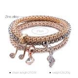 Bijou multicouche de bracelet de bracelet de diamant de Zircon de mode
