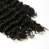 Onda profunda Natural brasileño Remy cabello humano.