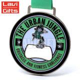 緑のリボンが付いている安い良質カスタム3Dメダル