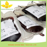 Wegwerfblut-Beutel für Blut-Tranfusion gekennzeichnetes Produkt