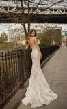 Vestido de casamento Strapless da sereia do laço