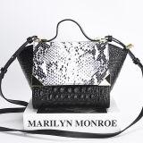 Fashinable 디자인 여자 핸드백 실제적인 가죽 가방 숙녀 어깨에 매는 가방 중국제 Emg5183